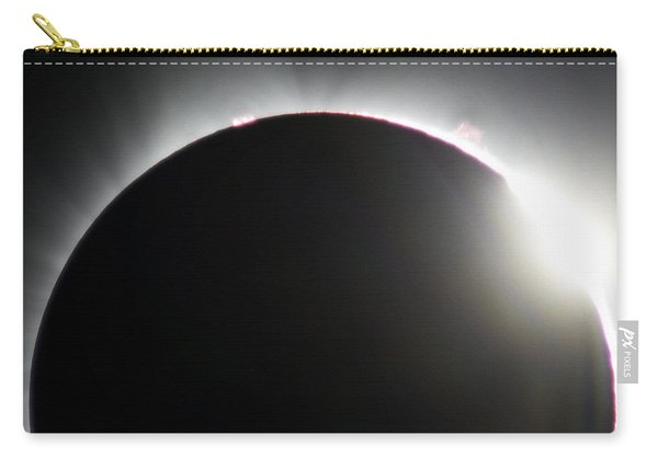 Carry-all Pouch featuring the photograph Solar Eclipse Diamond Ring by John King