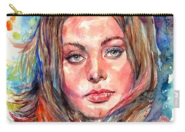 Sophia Loren Painting Carry-all Pouch
