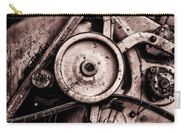 Soviet Ussr Combine Harvester Abstract Cogs In Monochrome Carry-all Pouch