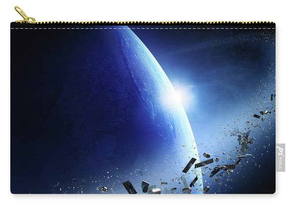 Space Junk Orbiting Earth Carry-all Pouch
