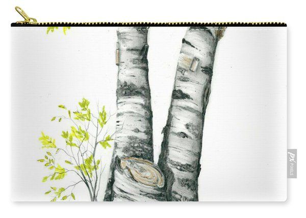 Spring Birch Carry-all Pouch