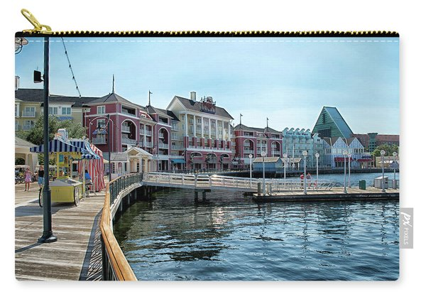 Strolling On The Boardwalk At Disney World Mp Carry-all Pouch