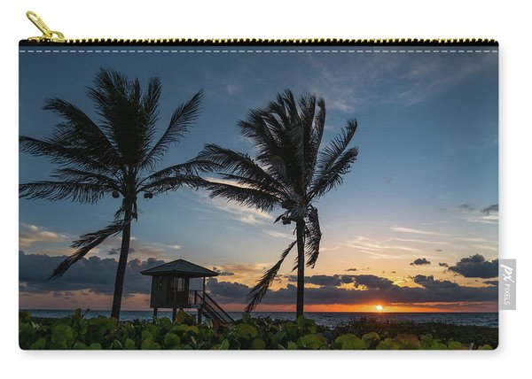 Sunrise Twin Palms Delray Beach Florida Carry-all Pouch