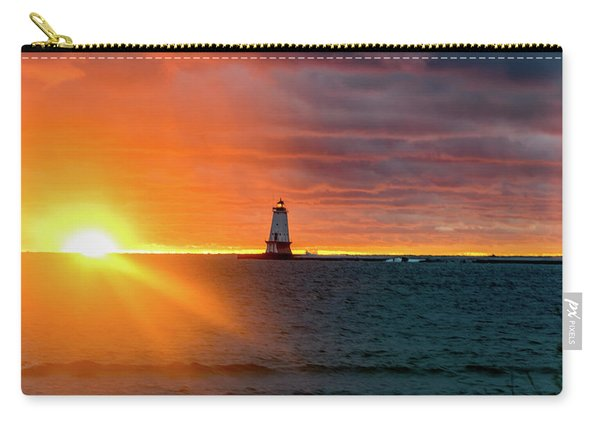 Sunset And Lighthouse Carry-all Pouch