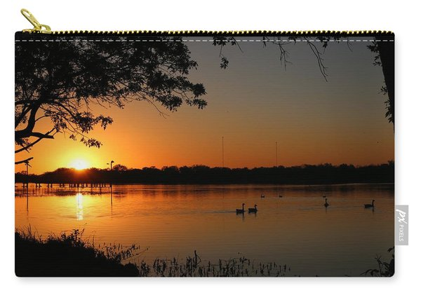Carry-all Pouch featuring the photograph Sunset Over Inks Lake  by Christy Pooschke