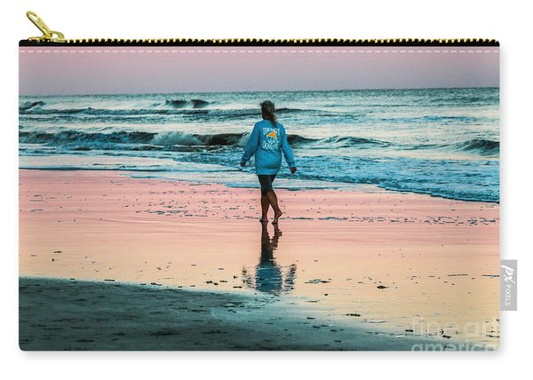 Sunset Stroll In The Surf Hilton Head Carry-all Pouch