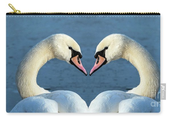 Swans Portrait Carry-all Pouch
