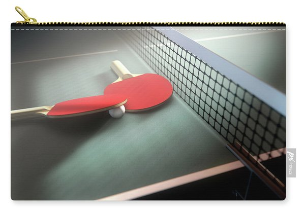 Table Tennis Table And Paddles Carry-all Pouch