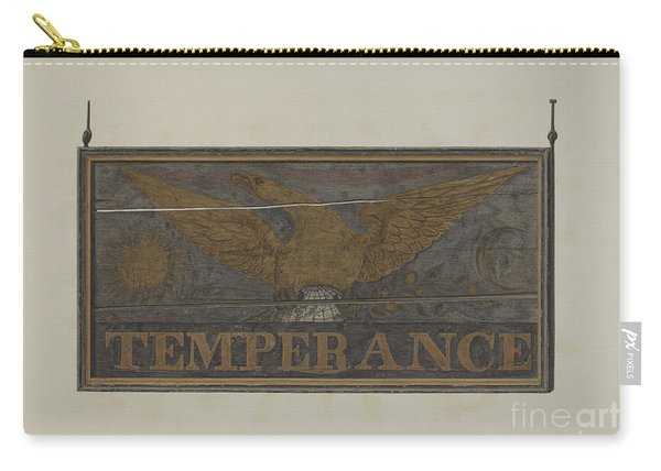 "Tavern Sign: ""temperance"" Carry-all Pouch"