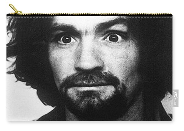 Charles Manson Mug Shot 1969 Vertical  Carry-all Pouch