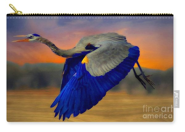 The Blue Heron Carry-all Pouch