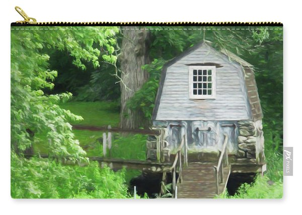 Carry-all Pouch featuring the photograph Painted Effect - Boathouse by Susan Leonard