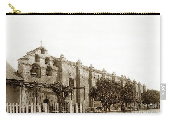 The Campanario, Or Bell Tower Of San Gabriel Mission Circa 1890 Carry-all Pouch