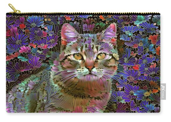 The Cat Who Loved Flowers 2 Carry-all Pouch