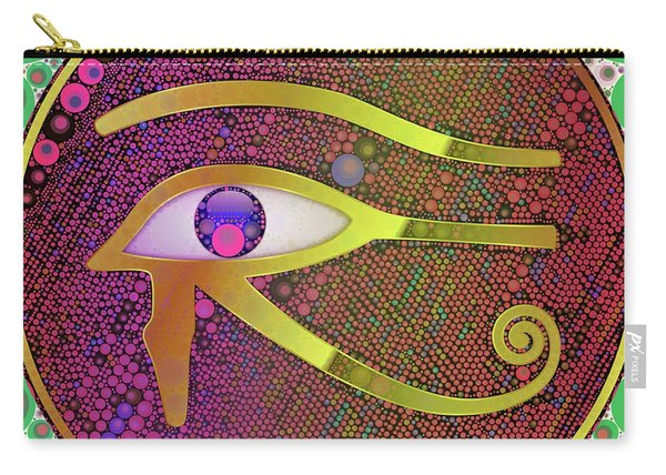 The Eye Of Horus, Pop Art By Mb Carry-all Pouch