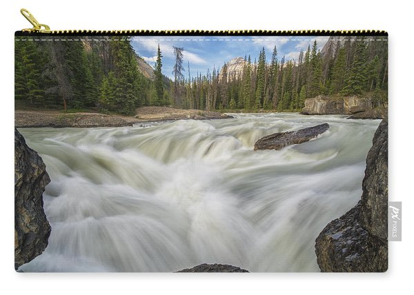 The Kicking Horse River Flows Carry-all Pouch