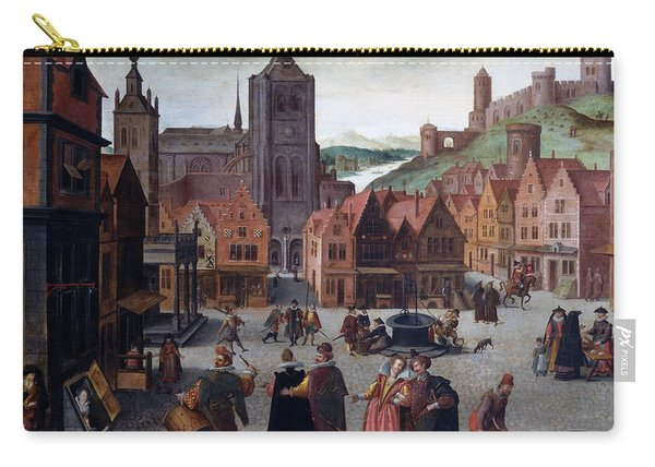 The Marketplace In Bergen Op Zoom Carry-all Pouch
