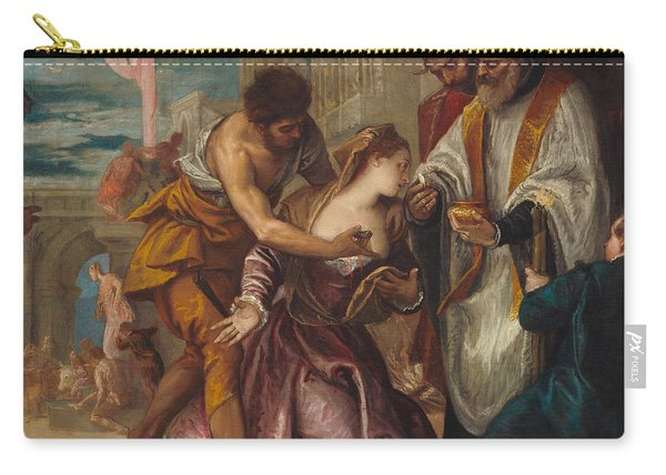 The Martyrdom And Last Communion Of Saint Lucy Carry-all Pouch