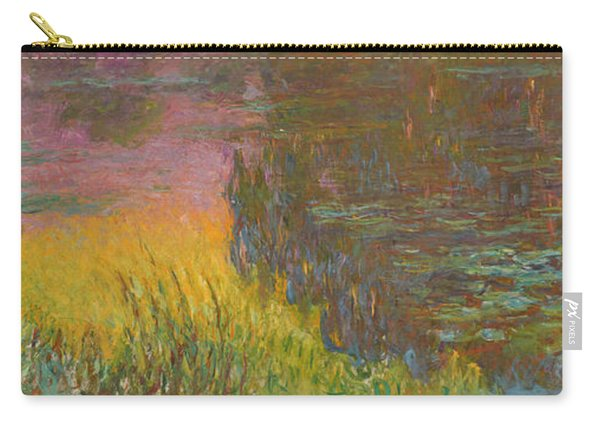 The Water Lilies, Setting Sun Carry-all Pouch