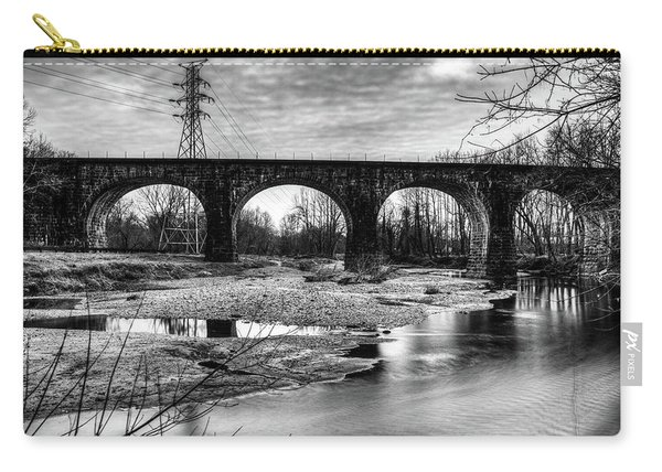 Thomas Viaduct In Black And White Carry-all Pouch