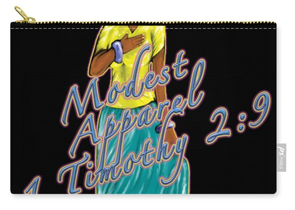 1 Timothy 2vs.9 Modest Apparel Carry-all Pouch