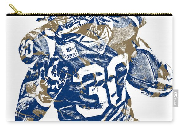 Todd Gurley Los Angeles Rams Pixel Art 22 Carry-all Pouch