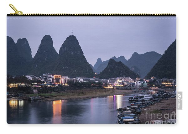 Twilight Over The Lijang River In Yangshuo Carry-all Pouch