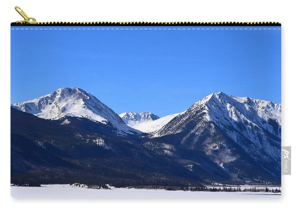Carry-all Pouch featuring the photograph Twin Lakes Mountains Leadville Co by Margarethe Binkley