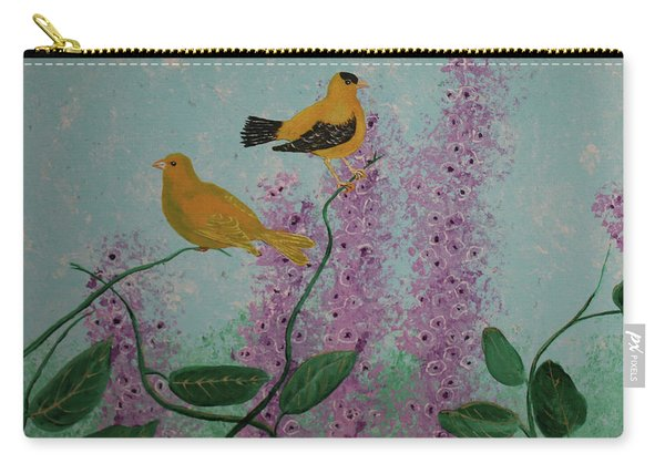 Two Yellow Chickadees Carry-all Pouch