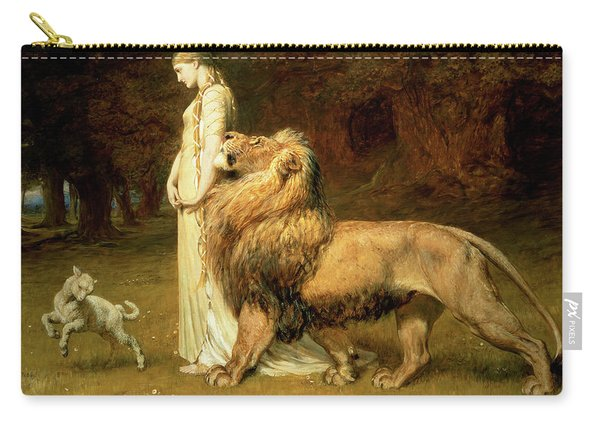 Una And Lion From Spensers Faerie Queene Carry-all Pouch