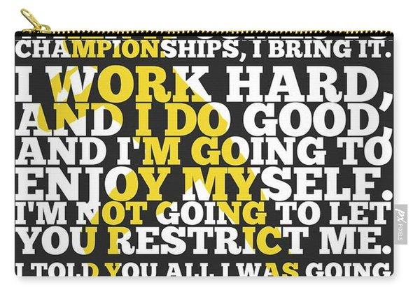 Usain Bolt Sport Inspirational Quotes Poster Carry-all Pouch