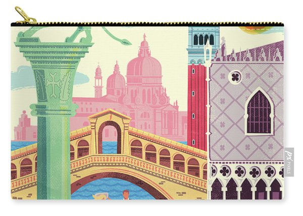 Venice Poster - Retro Travel  Carry-all Pouch
