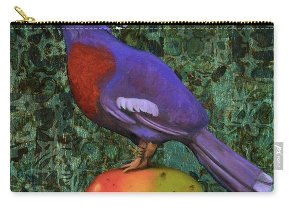 Victoria Crowned Pigeon On A Mango Carry-all Pouch