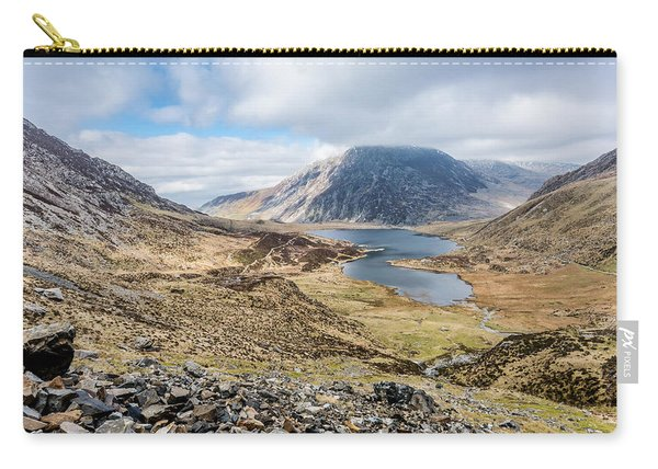 Carry-all Pouch featuring the photograph View From Glyder Fawr by Nick Bywater