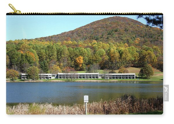 View Of Peaks Of Otter Lodge And Abbott Lake  In Autumn Carry-all Pouch