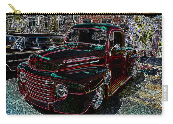 Vintage Chevy Truck Neon Art Carry-all Pouch
