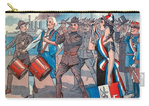 Vintage Sheet Music Cover Art - Ww1 Carry-all Pouch