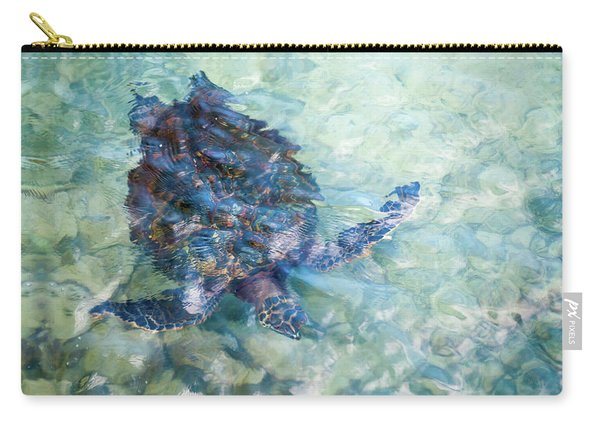 Watercolor Turtle Carry-all Pouch