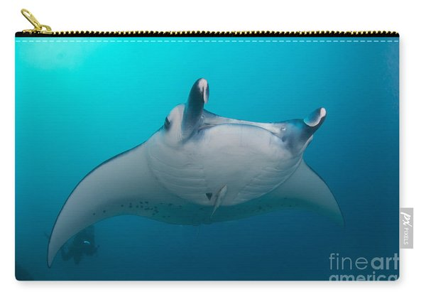 White-bellied Giant Oceanic Manta Ray Carry-all Pouch