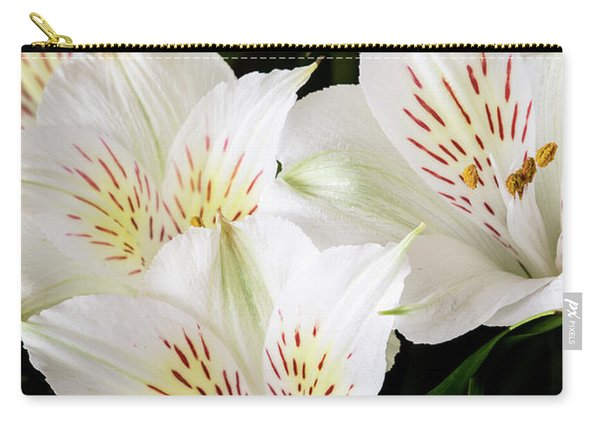 White Peruvian Lilies In Bloom Carry-all Pouch