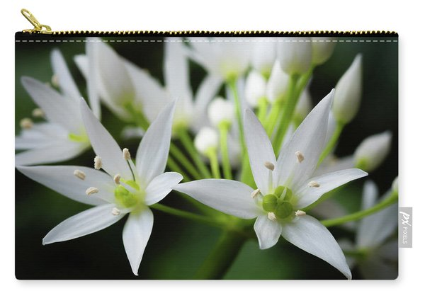 Carry-all Pouch featuring the photograph Wild Garlic by Nick Bywater