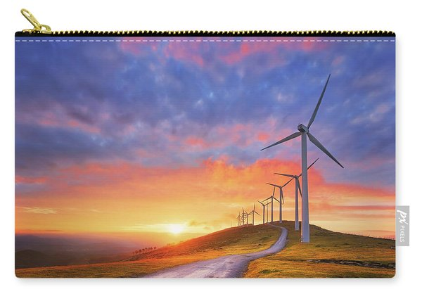 wind turbines in Oiz eolic park Carry-all Pouch