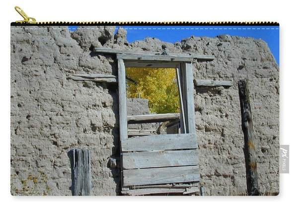 Carry-all Pouch featuring the photograph Window In Autumn by Joseph R Luciano