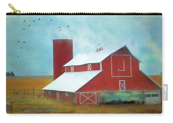 Winter Red Barn Carry-all Pouch