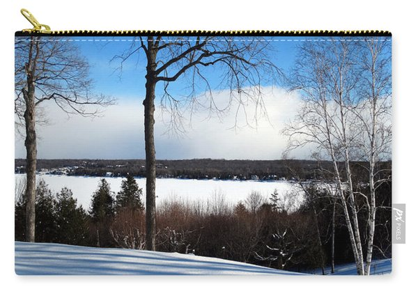 Winter View Of Sister Bay Carry-all Pouch