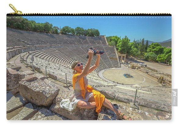 Woman Photographer Selfie Carry-all Pouch