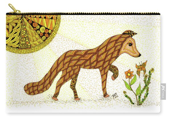 Carry-all Pouch featuring the drawing Wonder by Barbara McConoughey