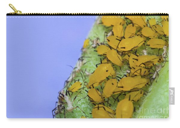 Yellow Aphids Macro Carry-all Pouch