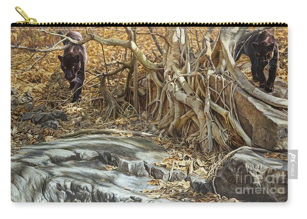 Carry-all Pouch featuring the painting You Take The High Ridge by Alan M Hunt