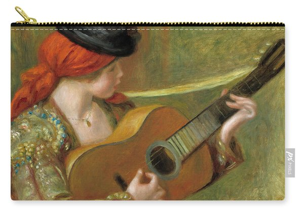 Young Spanish Woman With A Guitar Carry-all Pouch